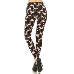 New Mix  Women's Flamingo Leggings Size 4X